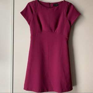 Topshop fuchsia short sleeve dress